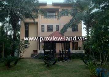 Waterfront villa for rent in Thao Dien ward, District 2