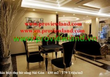 Villa for rent in Saigon Pearl - River view villas
