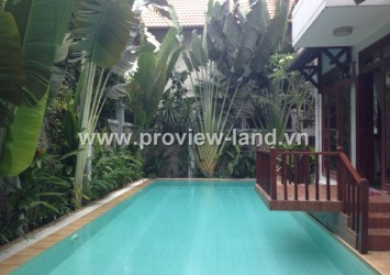 Villa for rent in Thao Dien District 2-Eden-Nguyen Van Huong street