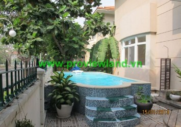 Villas for rent in District 7, swimming pool and garden