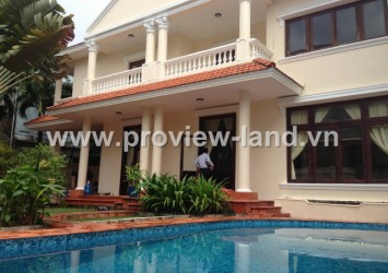 Villa for rent in Thao Dien District 2 good price with garden and swimming pool