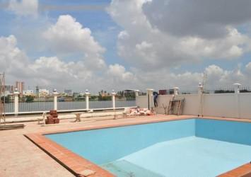 Riverside villa for rent on Nguyen Van Huong street in Thao Dien District 2