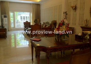 Villas for rent Saigon Pearl, riverside villa