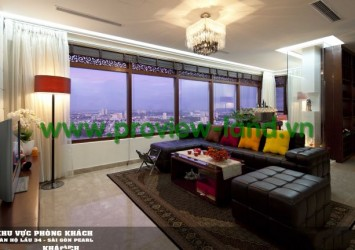Best beautiful penthouse for rent in Saigon Pearl Apartment