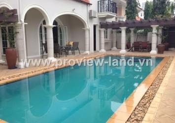 Villas for rent in Thao Dien District 2 area 800m2