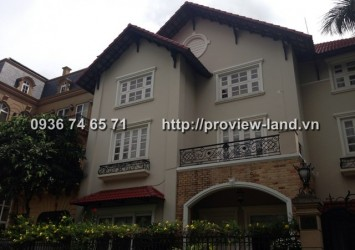 Villa for rent in Thao Dien 1 pool and garden