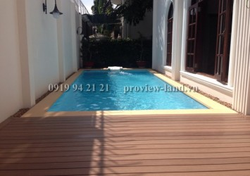 Villa for rent 670sqm with pool - garden in Thao Dien Villas