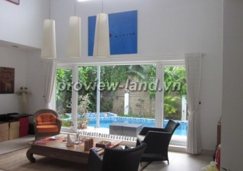 House for rent in District 2 Thao Dien area, 450 sqm house with garden and po