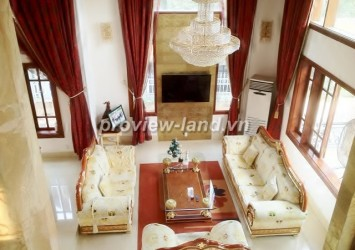 Thao Dien villa for rent with 250m2 area and luxurious furniture