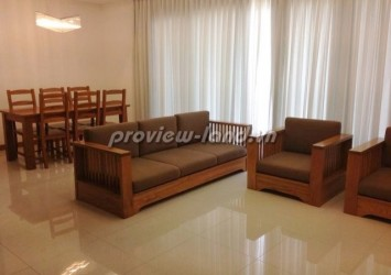 Apartment for rent in district 2 XI Riverview 3 beds 18th floor