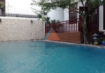 Compound Villa for rent in Thao Dien area 430 sqm with swimming pool