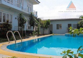 Compound villa for rent in Thao Dien 700m2 with pool and garden