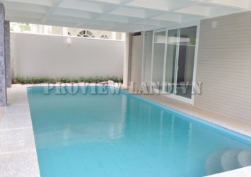 New villa for rent in compound area Thao Dien with 4 bedroom nice pool
