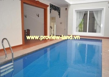 Very nice villa in Thao Dien Ward with wooden floor, swimming pool