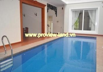 Very nice villa in Thao Dien Ward with wooden floor, swimming pool