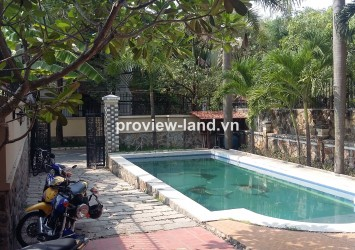 Villa for rent in Thao Dien with unfurnished, nice pool