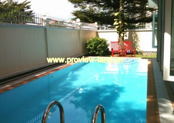 Villa for rent in Thao Dien Ward with nice pool, fully furnished