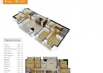 Selling apartment in Cantavil Premier block D2 176sqm 4 bedrooms with pool view