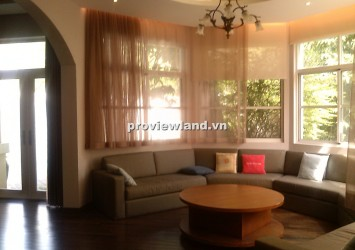 New luxury villa for rent in District 7 at Hung Thai 4 bedrooms big yard and pool