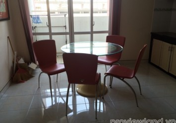 Apartment for lease in Central Garden 10th floor 2 beds basic furniture