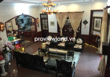 Villa for sale on Vo Truong Toan Street 430 sqm 2 living rooms 2 gardens wood furniture