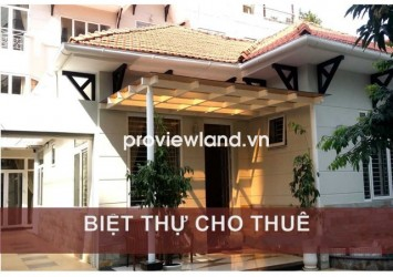 Villa for rent on Vo Thi Sau Street 290sqm 2 floors 7 beds with garage garden and aquarium