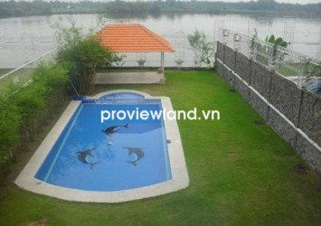 Nguyen Van Huong Compound villa for rent in 800 sqm 5 bedrooms riverfront