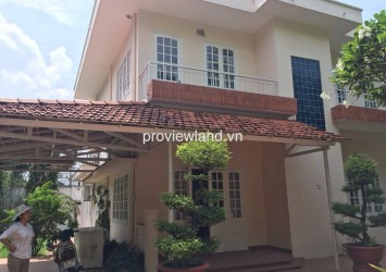 Villa for rent in Thien Nga compound on Xuan Thuy street District 2 unfurniture