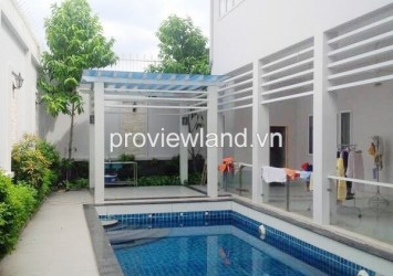 Villa for sale in Thao Dien 4 bedrooms 530 sqm 1 floor garden and pool prime location