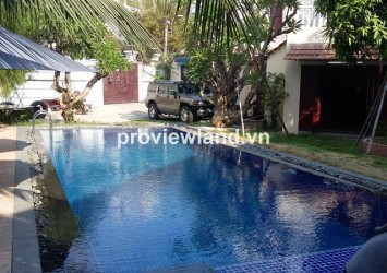 Villa for rent in District 2 on Street 42 4 bedrooms nice swimming pool near Phu Nhuan compound