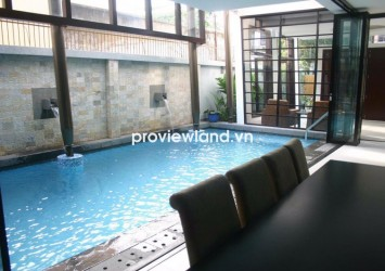 Villa for rent in An Phu Ward 4bedrooms 300 sqm has garden and pool