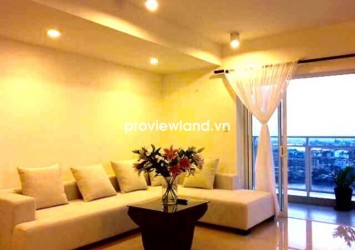 River Garden apartment for rent 2 bedroom long balcony on high floor looking over to Saigon River