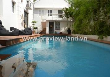 Villa for sale in Thao Dien Street 43 4 bedrooms 506 sqm 1 floor has pool garden and garage