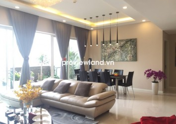 The Estella apartment for rent 148 sqm 3 bedrooms nice furnished pool view on high floor
