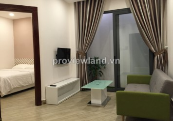 Serviced apartment for rent on Nguyen Cu Trinh Str near Bui Vien 40 sqm 1 bedroom