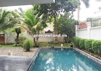 Villa for sale along the Saigon River 560sqm 4BRs 2 floors indoor elevator with pool and garden