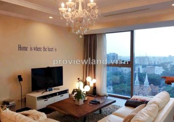 Apartment for lease in Vincom Center 150sqm 3BRs interior wall view to Notre Dame