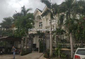 Mini villa for rent in District 2 Tran Nao 230sqm 3BRs fully furnished big garden river view