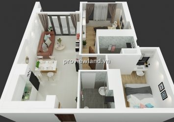 Tropic Garden apartment for rent low floor 65sqm 2BRs beautiful architectural