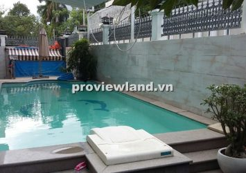 Villa for rent in District 2, Le Van Mien street 200 sqm big garden pool garage convenient transportation