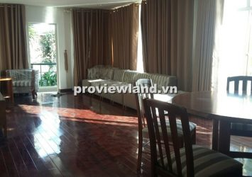 Villa for rent on Nguyen Van Huong Street Thao Dien Ward riverside include 1 bedroom