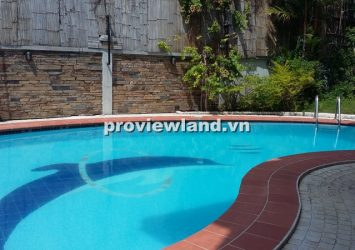 Villa for rent in Thao Dien 1 Compound 800 sqm 5 bedrooms big yard green garden generous pool