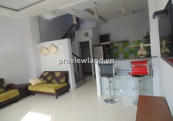 Leasing house in Thao Dien Bao Chi Village with 2BRs small garden and balcony