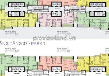 Penthouse Park 1 tower for sale at Vinhomes Central Park