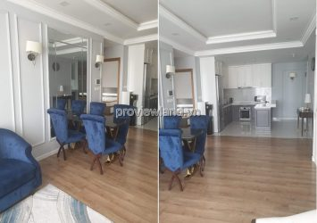 Apartment for rent in Thao Dien Pearl Building view beautiful has area 135sqm 3 bedrooms