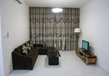 The Vista apartment for rent 2BRs has area 101sqm modern furniture with pool view