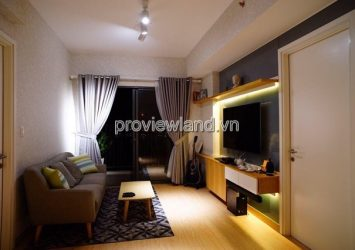 Masteri Thao Dien apartment for rent with area 65sqm high floor 2 bedrooms river view