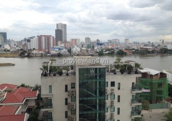 Apartment for rent Hoang Anh Riverview has area 158sqm high floor A2 Tower 4 bedrooms river view