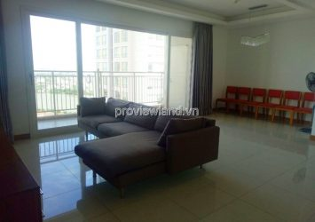 Apartment for rent in XI Riverview high floor 145sqm 3BRs balcony river view