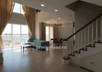 Penthouse Tropic Garden for rent 26th floor area 220m2 3BRs River view